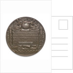 Medal commemorating Christopher Columbus (1451-1506) and the discovery of America, 1492; reverse by C.E. Barber