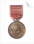 Medal commemorating the 150th anniversary of the capture of Louisbourg, 1895; obverse by Tiffany & Co.