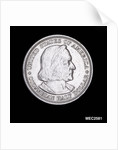 Coin commemorating Christopher Columbus (1451-1506) and the discovery of America by unknown