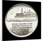 Medal commemorating the 50th anniversary of the destruction of the battleship Maine, 1948; reverse by W. & H. Co.