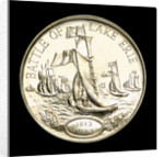 Medal commemorating the 150th anniversary of the battle of Lake Erie, 1963; reverse by Heraldic Art