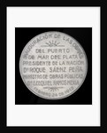 Medal commemorating the inauguration of the port of Puerto Mar Del Plata, 1910; reverse by J.M. Lubary