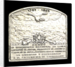 Plaque commemorating the homage of the Argentine navy to Dr B Monteagudo; reverse by Gottuzzo & Piana
