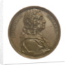 Commemorative medal depicting Edmund Halley (1656-1742); obverse by J.A. Dassier