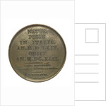 Commemorative medal depicting Galilaeo Galilei (1564-1642); reverse by R. Cayrard