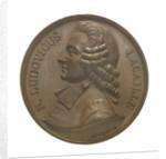 Commemorative medal depicting Nicholas Louis de la Caille (1714-62); obverse by I. Schmidt