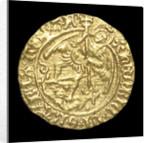 Coin - half-angel; obverse by unknown