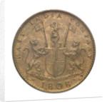 Ten cash piece; obverse by unknown