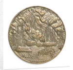 Medal commemorating the 150th anniversary of the battle of Navarino, 1977; obverse by Thomas Papagiennes