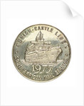 Medal commemorating the Union Castle Line-ending of South African Mail Service after 120 Years; reverse by Spink & Son Ltd.