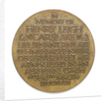Medal commemorating the death of Lieutenant Henry Leigh Carslake, 1926; reverse by P. Metcalfe