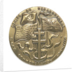 Medal commemorating the 40th anniversary of the Normandy Landings, 1984; obverse by Louis Leygue