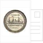 Medal commemorating the hospital ship, SS 'Maine'; obverse by unknown