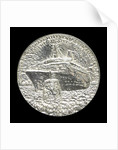 Medal commemorating the 150th anniversary of Cunard Shipping Company; obverse by Jacqueline Steiger