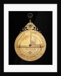 Astrolabe: reverse by Muhammad Mahdi al-Yazdi