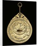 Astrolabe: mounted obverse by Mahmud ibn Shawka al-Baghdadi