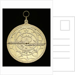 Astrolabe: mounted obverse by unknown