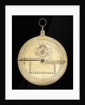 Astrolabe: mounted reverse by unknown