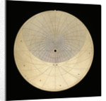Astrolabe:  plate for latitude 51 by unknown