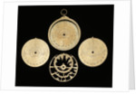 Astrolabe: dismounted obverse by unknown