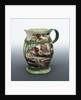 Baluster jug with a relief medallion below a plain lip inscribed 'ADMIRAL RODNEY' by unknown