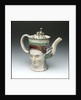 Teapot with a portrait of Admiral Sir George Brydges Rodney (1719-1792) by unknown