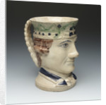 Jug with a portrait of Admiral Sir George Brydges Rodney (1719-1792) by Ralph Wood