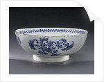 English delftware punch bowl by unknown