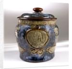 Trafalgar centenary commemorative tobacco jar and lid by Doulton & Co. Ltd.