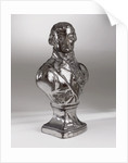 Brown earthenware bust with a silver lustre glaze depicting Vice-Admiral Horatio Nelson (1758-1805) by Doulton & Co. Ltd.