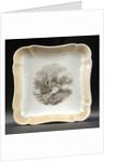 Square porcelain dish by Miles Mason