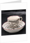Porcelain cup and saucer by Worthington