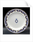 Plate used on HMY 'Victoria and Albert' (1899) by W.T. Copeland & Sons Ltd.
