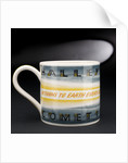 Earthenware mug by Josiah Wedgwood & Sons Ltd.