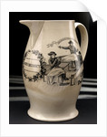 Liverpool transfer-printed creamware jug by unknown