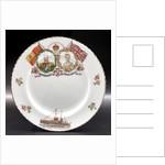 Porcelain plate by John Aynsley & Sons Ltd.