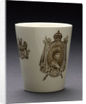 Porcelain beaker inscribed 'CORONATION 1911' by Doulton & Co. Ltd.