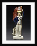 Earthenware figures of sailor by unknown