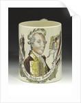 Mug with a portrait of Admiral Sir George Brydges Rodney (1719-1792) by unknown