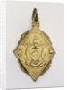 Flat, gilt metal diamond-shaped pendant by unknown