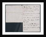 Nelson's notes for battle plan, recto by Horatio Nelson