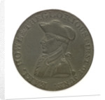Token depicting Admiral of the Fleet Richard Howe (1726-1799) and the Glorious First of June, 1794; obverse by T. Wyon