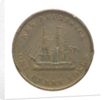 New Brunswick penny token; reverse by unknown