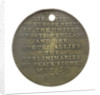Medal commemorating the signing of peace preliminaries May 30 1814; reverse by unknown