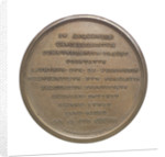 Commemorative medal depicting Duke of Wellington (1769-1852), Chancellor of Oxford University 1834; reverse by T. Webb