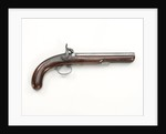 Percussion Back Action pistol by R. Weston