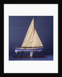 Full hull model, whaler, starboard broadside by unknown