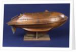 Full hull model, life-saving capsule, starboard broadside by R. F. Wells