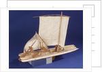Brazilian raft or Jangada, starboard stern quarter by unknown