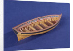 Full hull model of a ship's dinghy (circa 1795) by unknown